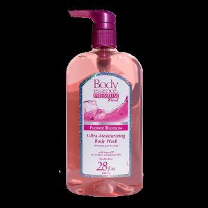 Body Essence Premium Blend Flower Blossom Ultra Moisturizing Body Wash 28 oz Front