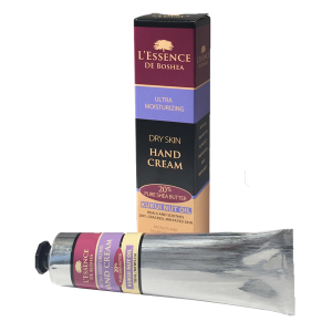 L'Essence De Boshea Kukui Nut Oil Hand Cream, 5 Ounce Tube and Front of Carton