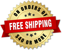 Free Shipping on all orders of $40 or more