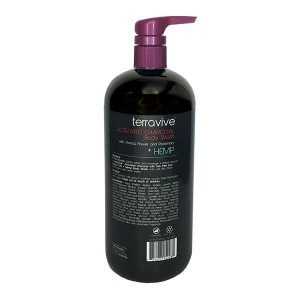Terravive® Activated Charcoal Body Wash with Arnica Flower, Rosemary + Hemp