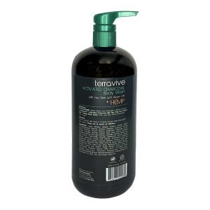 Terravive® Activated Charcoal Body Wash with Tea Tree and Argan Oils + Hemp